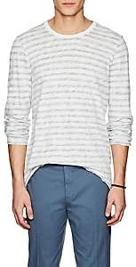 ATM Anthony Thomas Melillo MEN'S STRIPED COTTON LONG-SLEEVE T-SHIRT-CREAM SIZE S