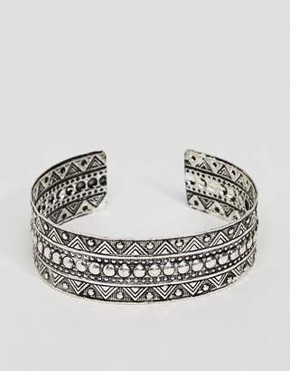 Asos DESIGN Engraved Burnished Arm Cuff