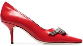Dorateymur red Countach Court 70 leather pumps