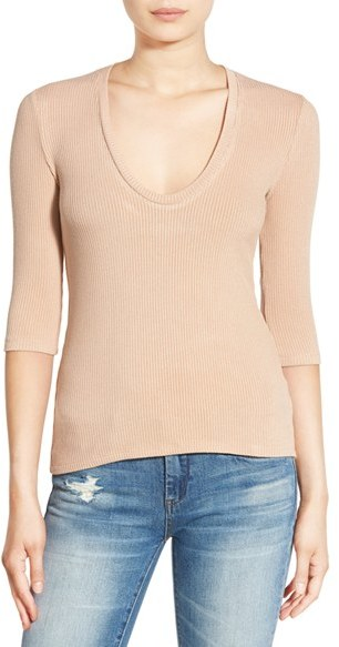 Project Social T Scoop Neck Ribbed Tee