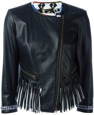 Bazar Deluxe fringed biker jacket