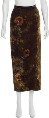 Kenzo Velvet Wrap Midi Skirt