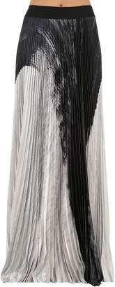 Pleated Lamè Skirt