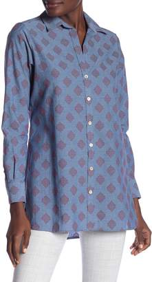 Foxcroft Jade Long Sleeve Clipdot Tunic