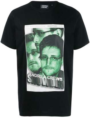 Andrea Crews Snowden print crew neck T-shirt