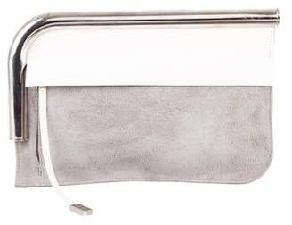 Proenza Schouler Curved Chrome Bar Clutch