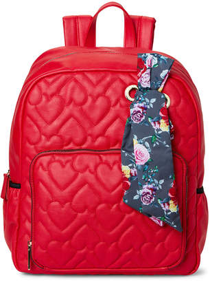 Betsey Johnson Quilted Scarf-Accented Backpack