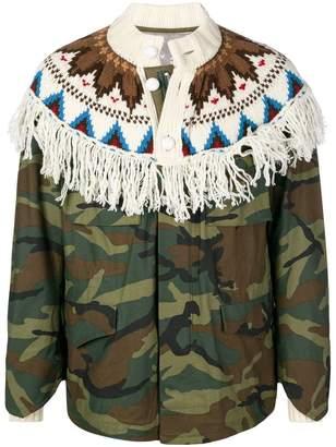 Sacai contrast camouflage jacket