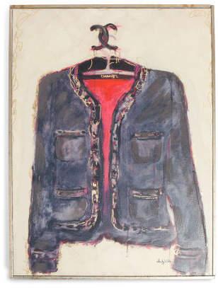 24x32 Fashion Jacket Canvas Wall Art