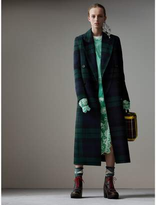 Burberry Tartan Double-faced Wool Cashmere Tailored Coat