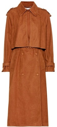 Cecile Faux-suede Trench Coat