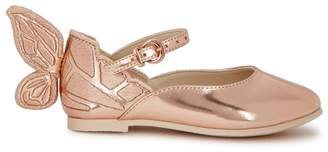 Sophia Webster Chiara Mini Rose Gold Leather Ballet Flats