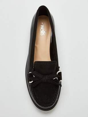 69f7be51d7e Wallis Blair Buckle Bow Flat Loafers - Black