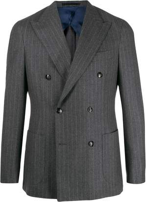 Barba fitted striped-print blazer