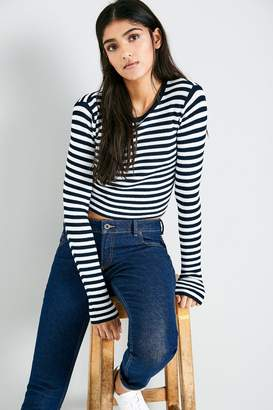 Jack Wills Auldhouse Striped Cropped Crew