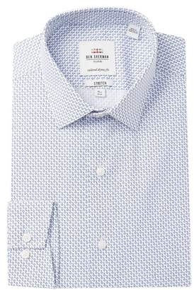 Ben Sherman Key Print Stretch Skinny Fit Dress Shirt