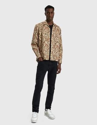 Gitman Brothers Button Up Twill Shirt in Khaki Paisley