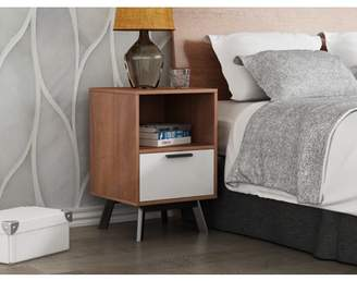 Mid-Century MODERN Mainstays Two Tone Nightstand in Vintage Umber with White