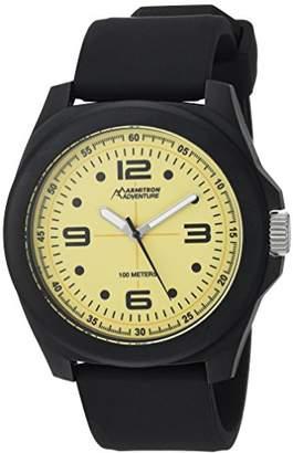 Armitron Adventure Men's AD/1012YLBKBK Luminous Dial Black Silicone Strap Watch