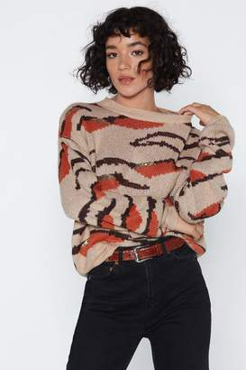 Nasty Gal Grr Tiger Sequin Sweater