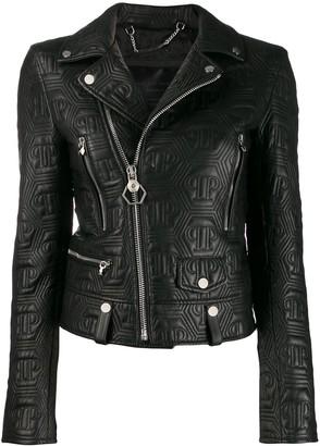 Philipp Plein matelassé biker jacket