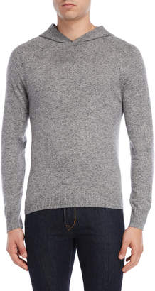 Michael Bastian Heather Grey Hooded Sweater