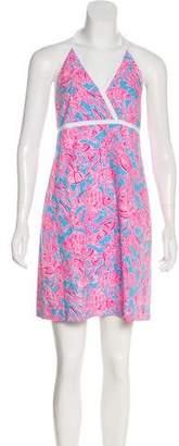 Lilly Pulitzer Fish Print Halter Dress