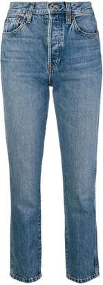 RE/DONE slim-fit cropped jeans