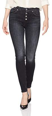 7 For All Mankind Women's The Hw with Exposed Button Fly