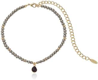 Ettika Through The Looking Glass in Pyrite and Gold Choker Necklace