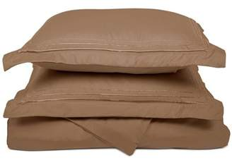 Superior Light Weight and Super Soft Brushed Microfiber, Wrinkle Resistant Duvet Cover with 3-Line Embroidered Pillow Shams