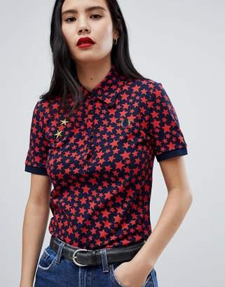 Fred Perry x Bella Freud Star Print Polo Shirt