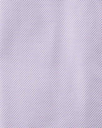 Neiman Marcus Non-Iron Trim-Fit Textured Dress Shirt, Purple