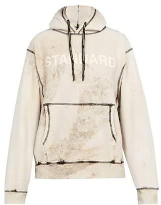 BEIGE United Standard - Overbranded Bleached Cotton Blend Sweatshirt - Mens Multi