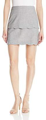 Amy Byer A. Byer Junior's Tiered Scalloped Fitted Skirt