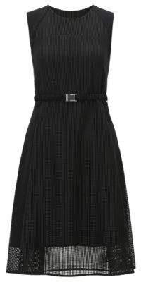 BOSS Hugo Sleeveless mesh dress belt 2 Black