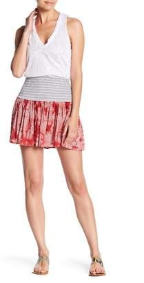 Ocean Drive Print Smocked Mini Skirt