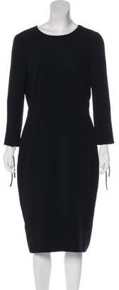 Max Mara Long Sleeve Midi Dress