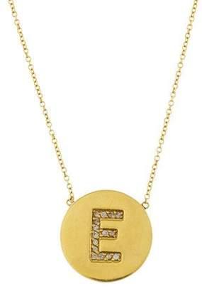 Jennifer Meyer 18K Diamond Initial E Pendant Necklace