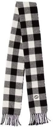 Gucci GG-Logo Patterned Fine Knit Scarf