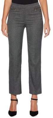 Rafaella Checkered Straight Leg Trousers