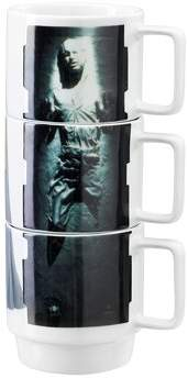 Star Wars Ceramic Stacking Mugs - Princess Leia, Carbonite Han Solo and Lando