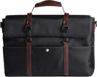 Brix And Bailey Mens Leather & Canvas Waterproof Shoulder Bag