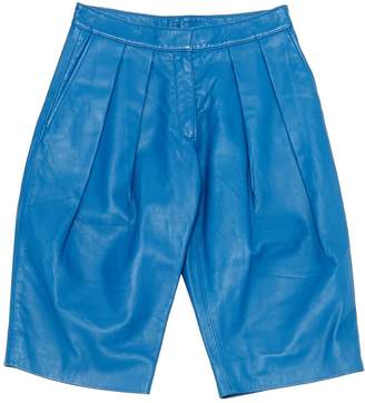 Richard Nicoll Blue Leather Shorts for Women