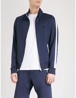 The Kooples Turtleneck side-stripe stretch-jersey jacket