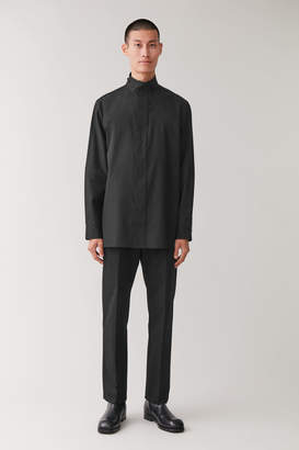 Cos COTTON SHIRT WITH FUNNEL COLLAR