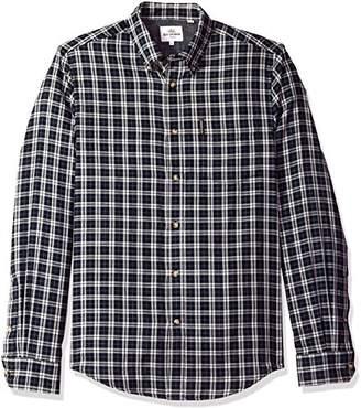 Ben Sherman Men's Long Sleeve Double Cloth Tartan Button Down Shirt
