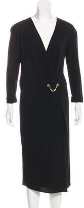 Versace Medusa-Accented Evening Dress