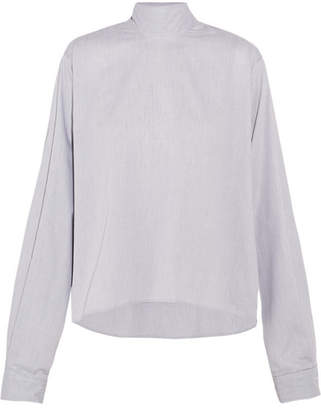 MM6 MAISON MARGIELA Tie-back Checked Cotton-jacquard Top - Off-white