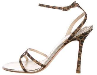 Jimmy Choo Printed Ankle-Strap Sandals